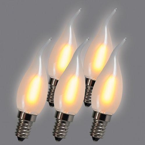 LED C35T E14 1W 2200K 5 stk