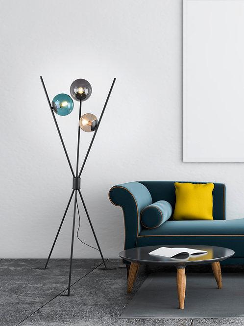 Design gulvlampe svart - Lance