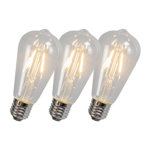 LED ST64 4W 2700K 3 stk