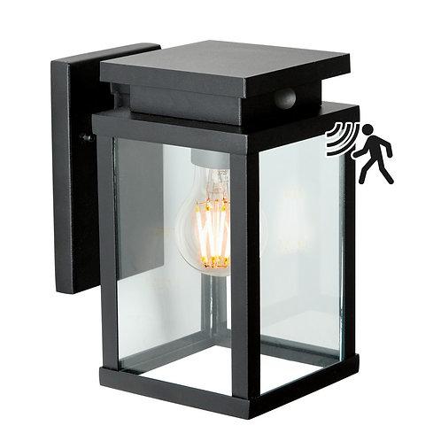Design vegglampe svart med sensor - Jersey M