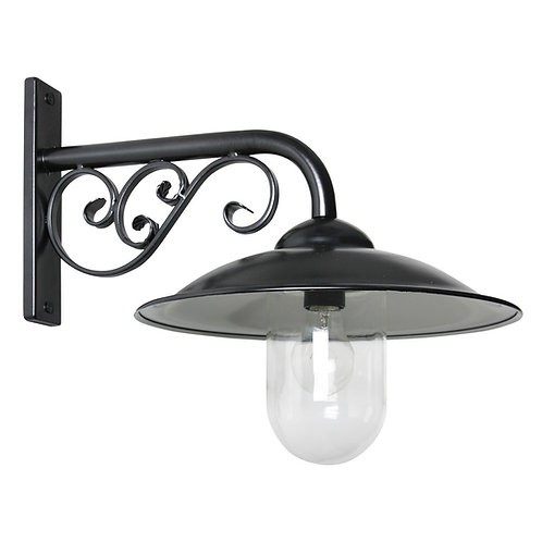 Klassisk vegglampe svart - Stasjonslampe