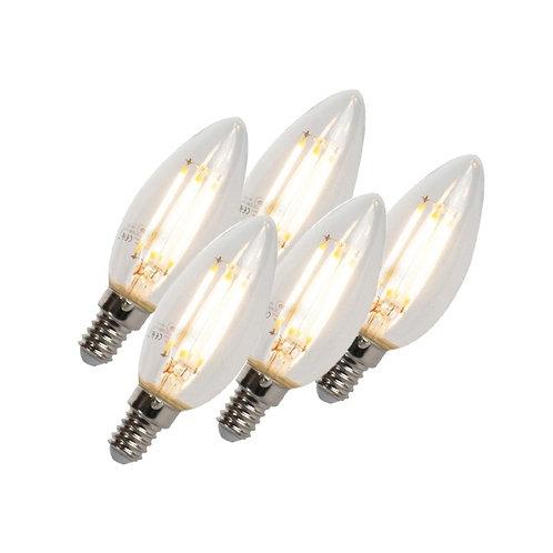 LED lyspære E14 5W 2700K 470LM B35 dimbar 5 stk