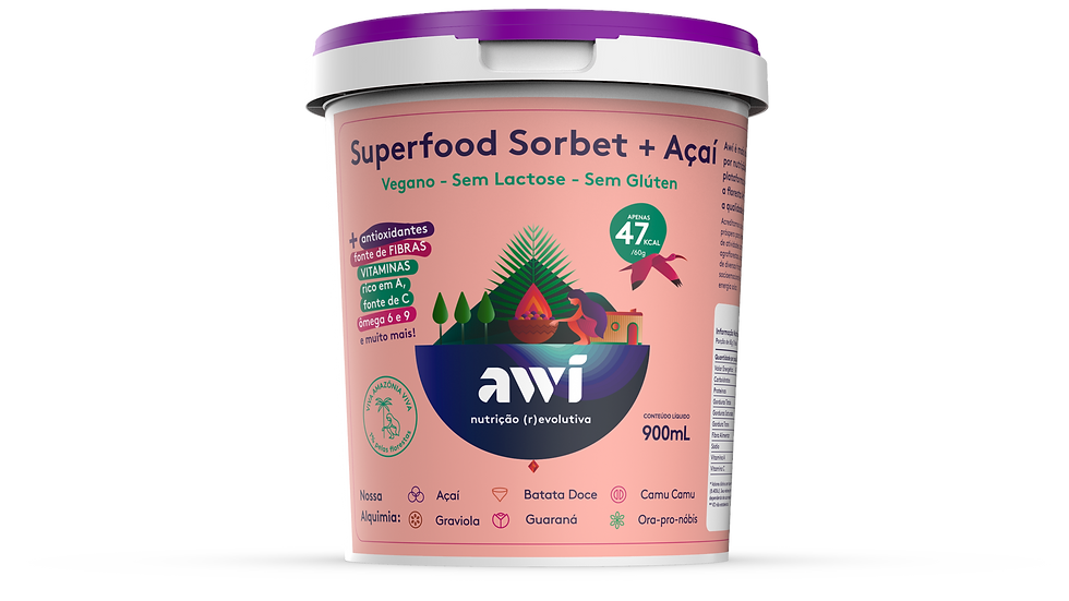 Superfood Sorbet + Açaí 900 ml
