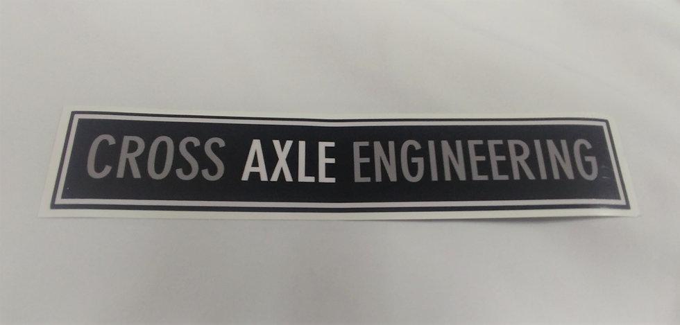 Sticker with Cross Axle Engineering - 200mm
