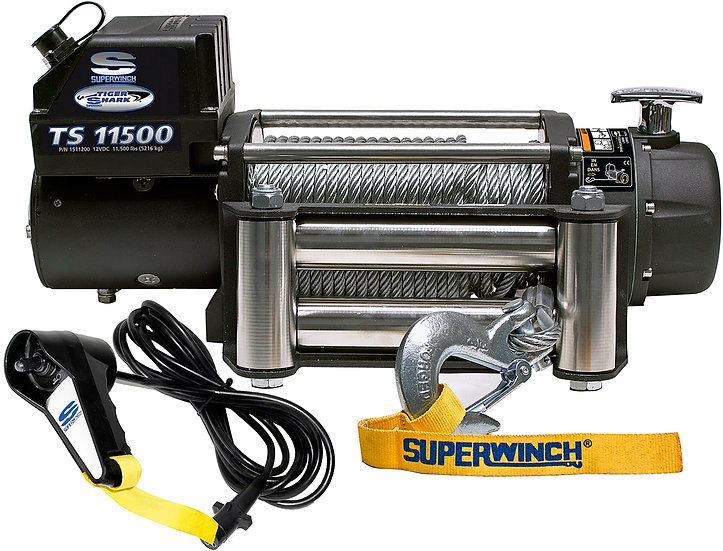 Superwinch Tiger Shark 11500lb 4x4 Winch - Synthetic Cable