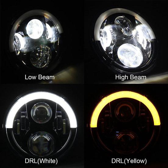 7Inch Half-Halo LED Headlight Set