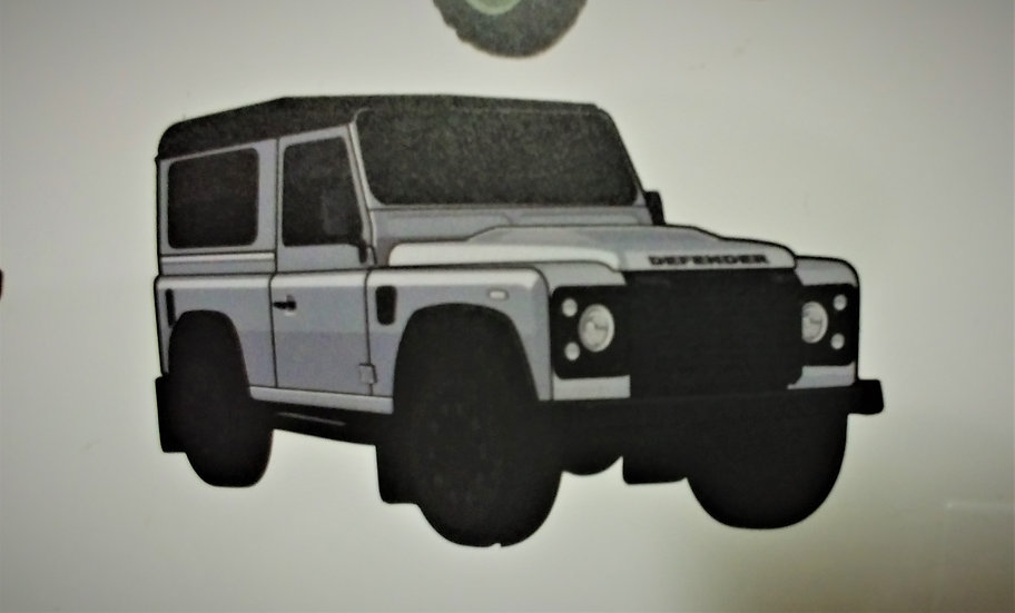 Sticker with the Land Rover Defender 90