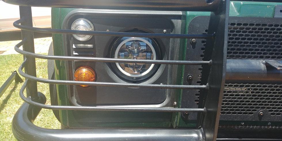 Headlight Surround Set for Defenders - Steel