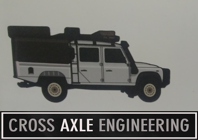 Sticker with the Land Rover Defender 130 Overlander