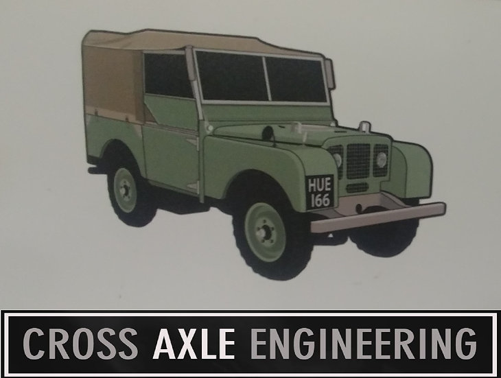 Sticker with the Land Rover HUE166 - Series 1