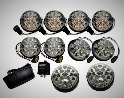 Clear LED Indicator & Side Light Set for Defenders
