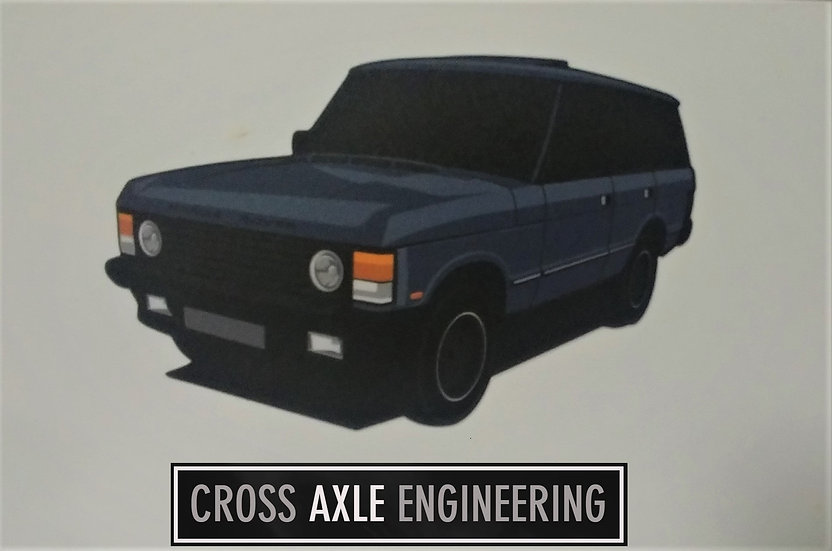 Sticker with the Land Rover Range Rover Classic