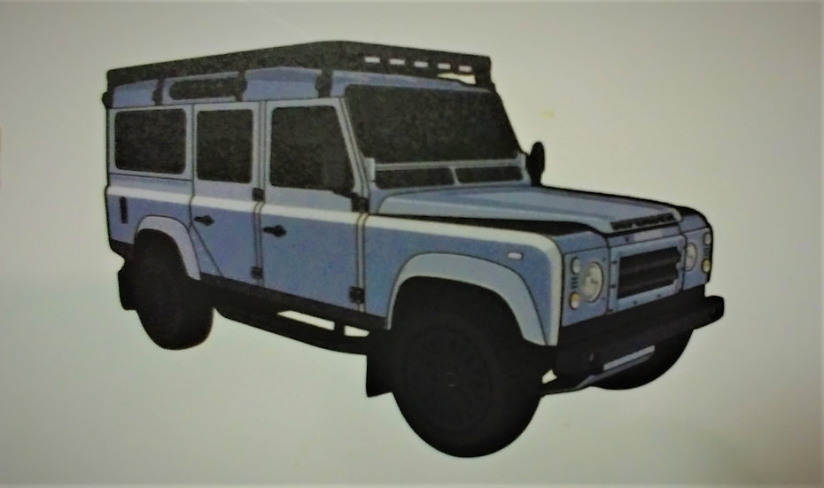 Sticker with the Land Rover Defender 110