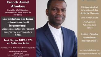 Conférence de Franck Armel Afoukou le 6 février 2019