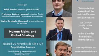 L'IEHI accueille Ralph Bunche et Maître Christophe Marchand pour une conférence le 30 novembre