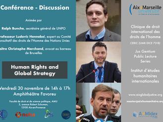 Conférence de Ralph Bunche et Maître Marchand autour des Droits de l'Homme