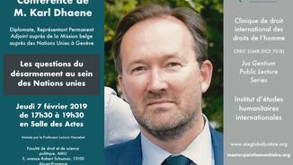 Conférence de Karl Dhaene le 7 février 2019