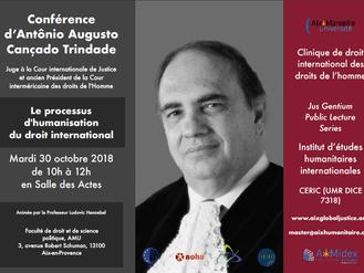 Aix Global Justice accueille le Juge Cançado Trindade pour une conférence et un séminaire le 30 octo