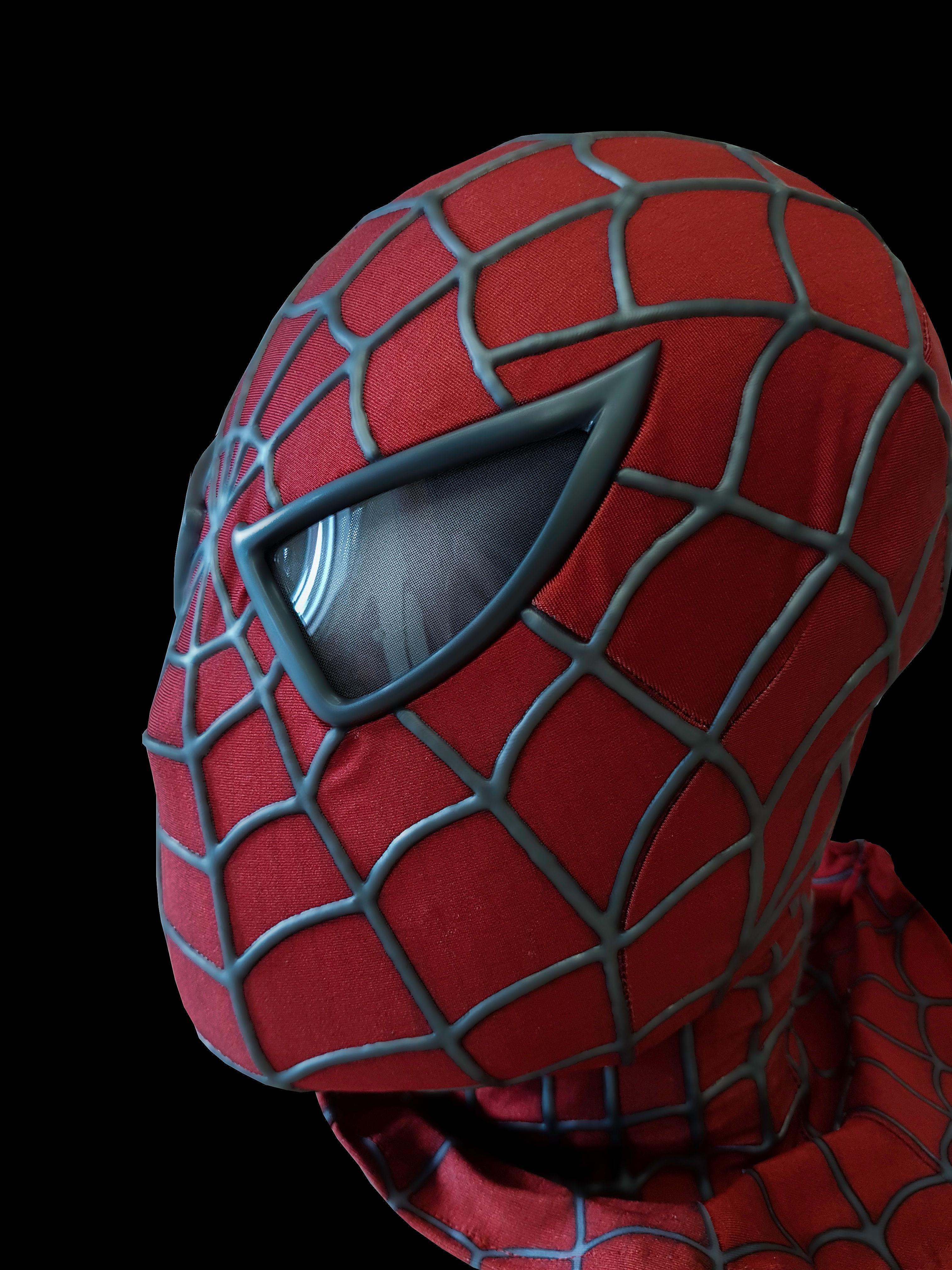 Uncategorized Spiderman Face Pictures spider man face shells no limit designs premium raimi shell lenses mask