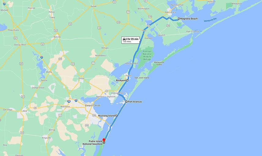 Magnolia Beach Rockport Route Map.jpg