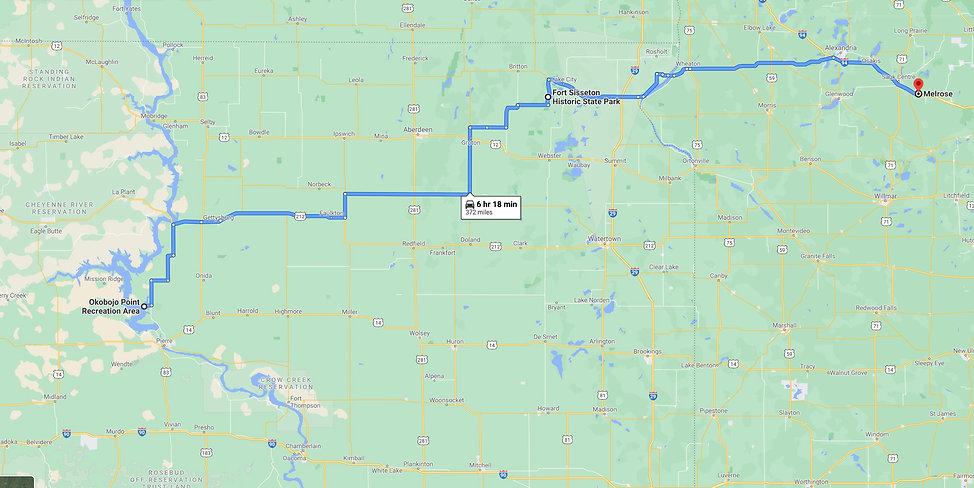 Okojobo Fort Sisseton Melrose Route Map.jpg