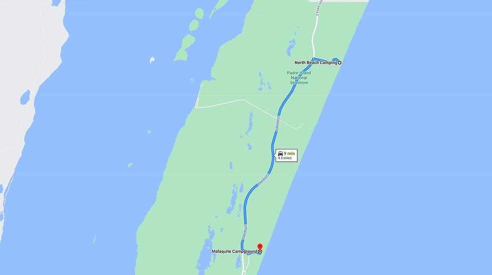 North Beach to Malaquite on Padre Island
