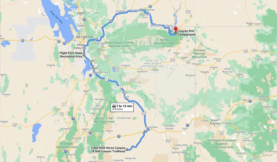 Little Wild Horse, Flight Park, Canyon Rim Route Map.jpg