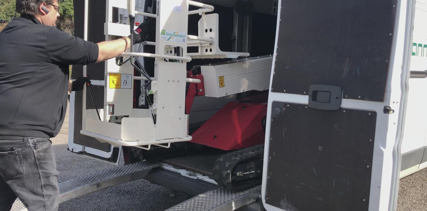 Verladung selbst im Transporter