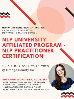 NLP University Affiliated Program -  NLP Practitioner Certification in Orange County California