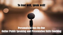 Personalized 1-on-1 Online Public Speaking and Presentation Skills Coaching