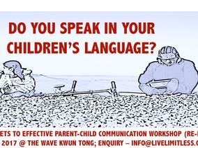 Secrets to Effective Parent-Child Communication (15 Jan 2017 HK)