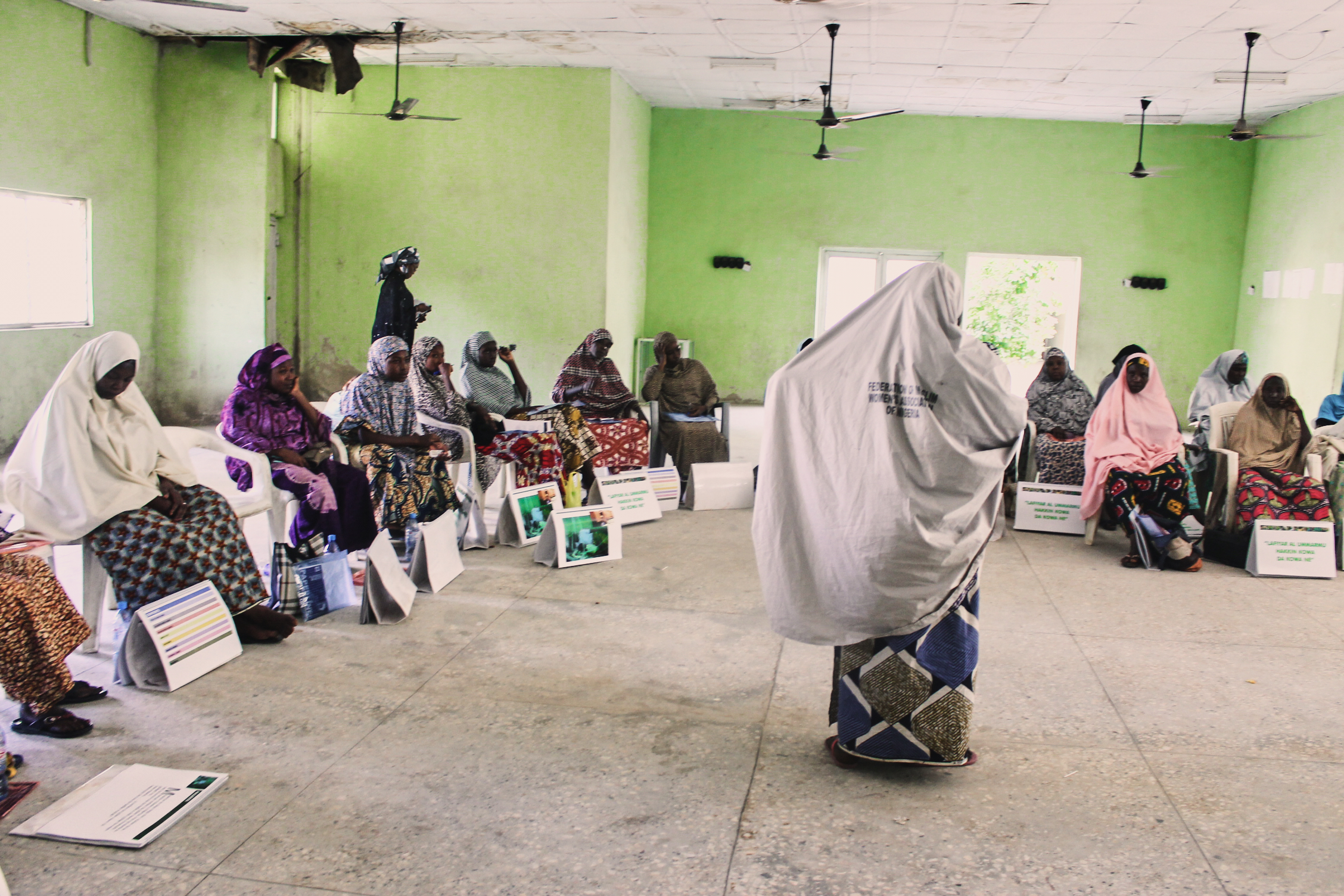 A community health worker meeting in Kano, Nigeria