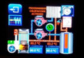 panel de control caldera de biomasa industrial