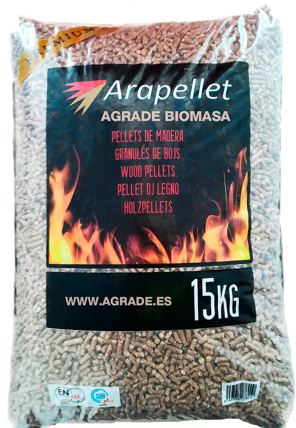 Pellet Arapellet en Agrade Biomasa