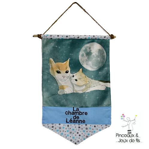 """Bannière décorative """"Tendres chats"""""""