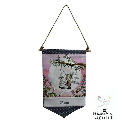"""Bannière décorative """"La fée Charlie """""""