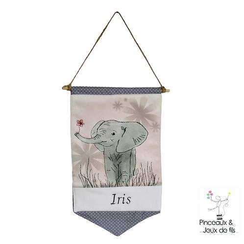 """Bannière décorative """"Fleur d'éléphant """""""