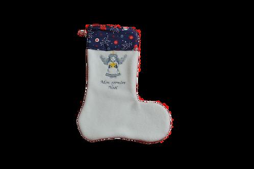 """Chaussette de Noël brodée personnalisable """"Petit Ange"""""""