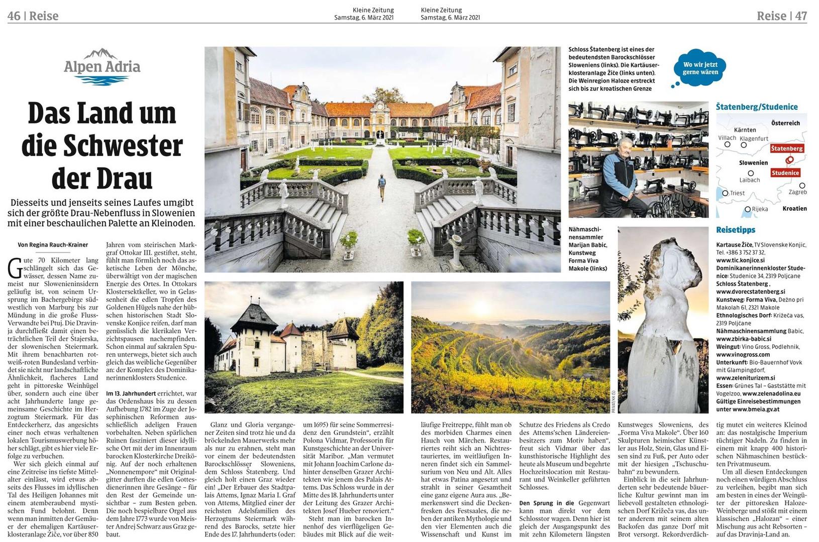 2021-03-06 Artikel Kleine Zeitung Dravin