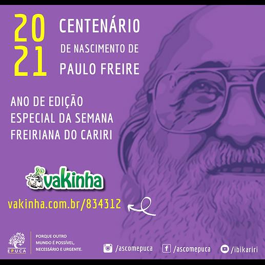 Vem aí o centenário de nascimento de Paulo Freire