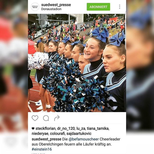 🎀Die Be famous Cheer Company bei den Jugendläufen in Ulm🎀__Danke an die _suedwest_presse__#befamou