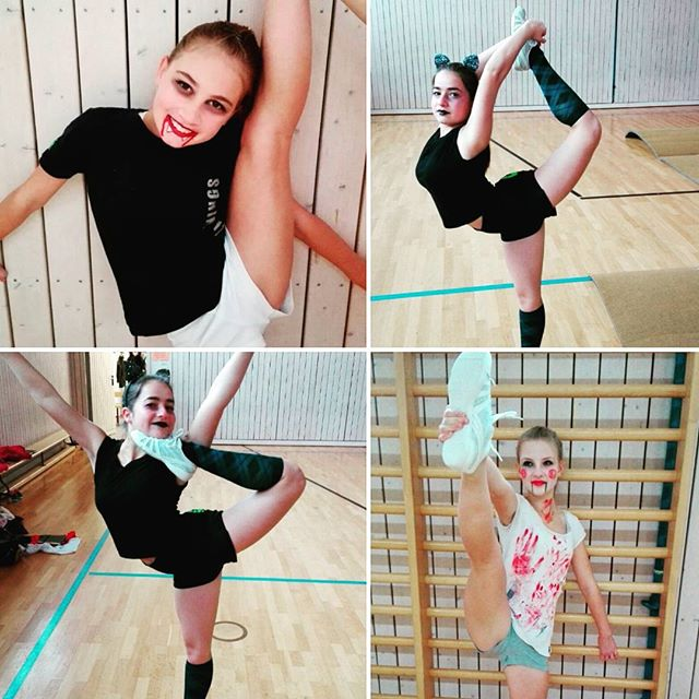 Halloween-Training_#cheerleading#halloween#schminke#bownarrow#scorpien#stretch#flexibel#cheer#bfc#be
