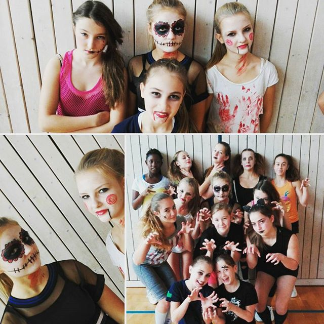Halloween-Training _#halloween#schminke#gruselig#bfc#befamouscheer#Training#cheerleading#Team#bfcthu