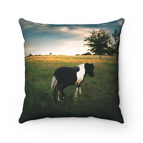 Buddy Spun Polyester Square Pillow