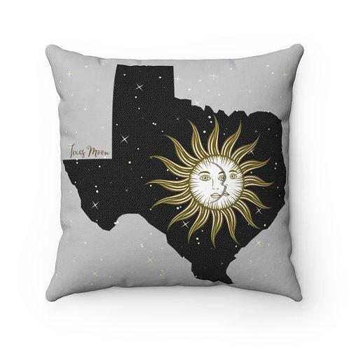 Texas Moon Spun Polyester Square Pillow