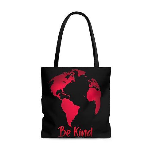 Be Kind World AOP Tote Bag