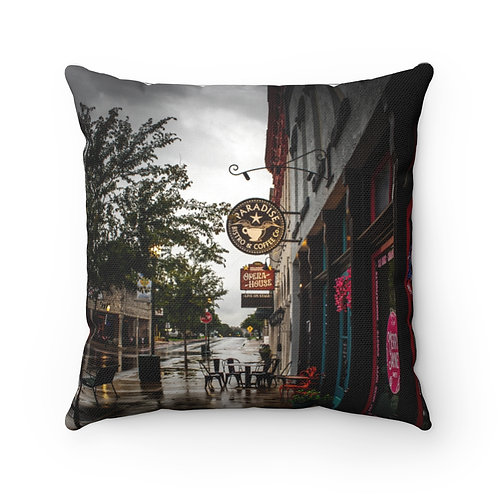 Paradise Spun Polyester Square Pillow