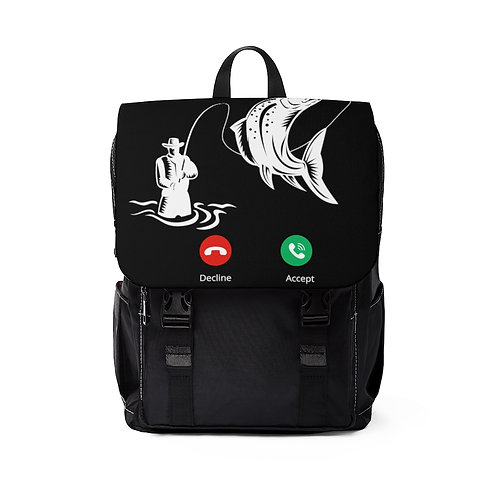 On The Other Line Unisex Casual Shoulder Backpack