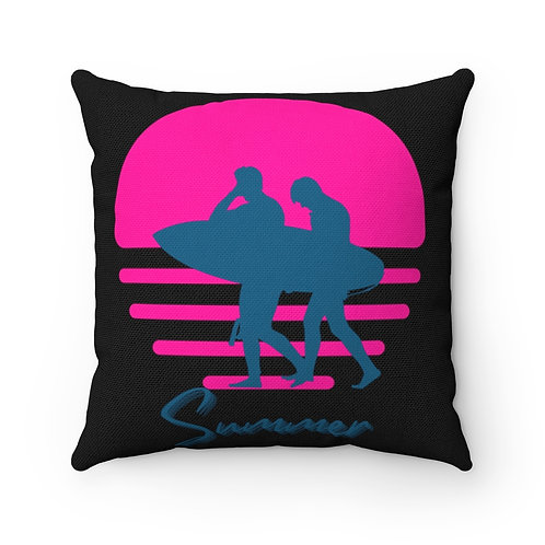 Summer Surf Spun Polyester Square Pillow