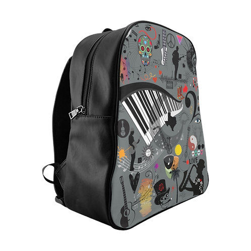 Music Collage School Backpack